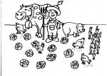 disegni animali della fattoria per bambini da colorare:mucca.. contadino ..disegno contadino da colorare..disegno trattore da colorare..disegno contadino nell'orto da colorare..allevatore di animali da colorare