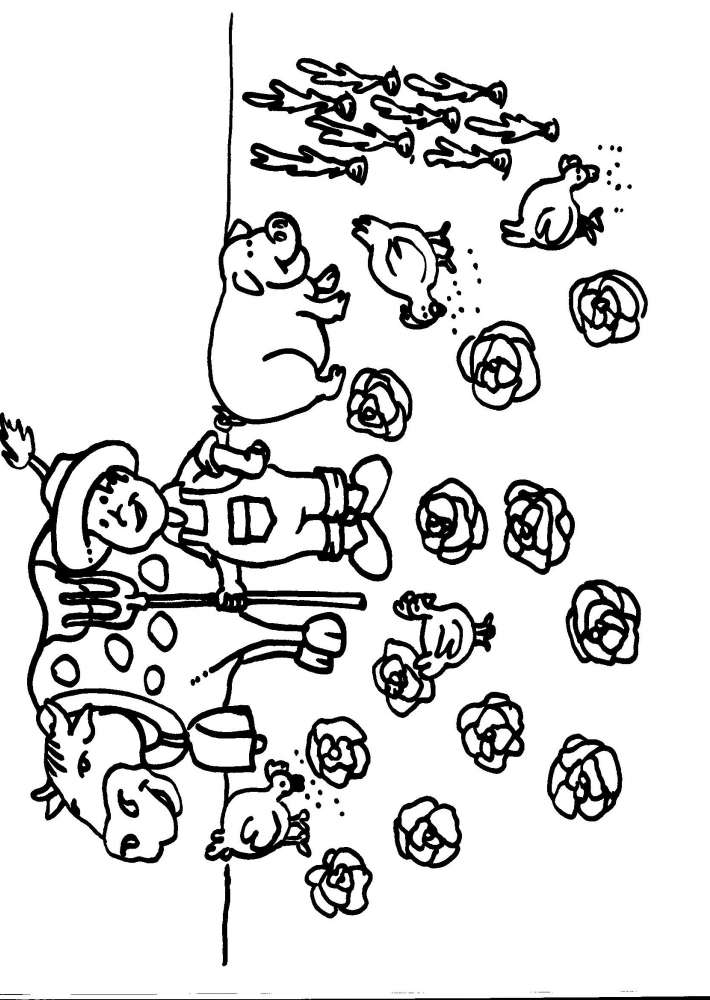 Disegni animali della fattoria per bambini da colorare for Disegno della fattoria americana