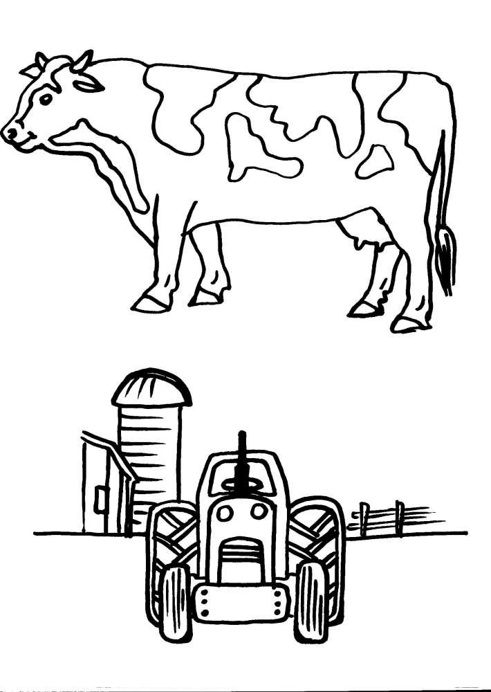 Disegni animali della fattoria da colorare per bambini for Disegno della fattoria americana