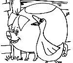 coloriamo gli animali della fattoria,disegni fattoria animali,colorare maiale in fattoria didattica..scheda di maiale da colorare..disegno porcellino da colorare..maialino da colorare